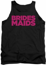 Bridesmaids tank top Logo mens black