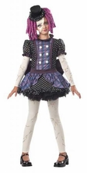 Broken Doll girls costume with wig