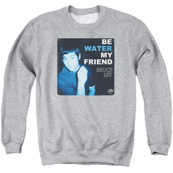 Bruce Lee adult crewneck sweatshirt Water athletic heather