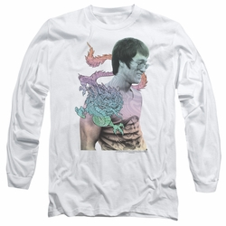 Bruce Lee adult long-sleeved shirt A Little Bruce white