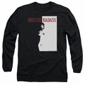 Bruce Lee adult long-sleeved shirt Badass black