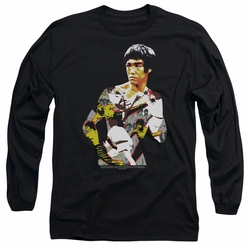 Bruce Lee adult long-sleeved shirt Body Of Action black