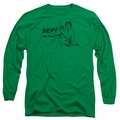 Bruce Lee adult long-sleeved shirt Brush Lee kelly green