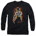 Bruce Lee adult long-sleeved shirt Dragon Fire black