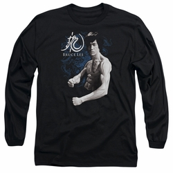 Bruce Lee adult long-sleeved shirt Dragon Stance black