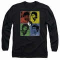 Bruce Lee adult long-sleeved shirt Enter Color Block black