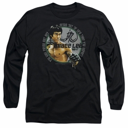 Bruce Lee adult long-sleeved shirt Expectations black
