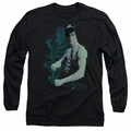 Bruce Lee adult long-sleeved shirt Feel black