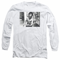 Bruce Lee adult long-sleeved shirt Full Of Fury white