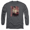 Bruce Lee adult long-sleeved shirt Fury charcoal