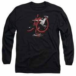 Bruce Lee adult long-sleeved shirt High Flying black