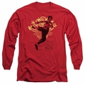 Bruce Lee adult long-sleeved shirt Immortal Dragon red