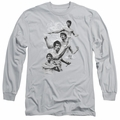 Bruce Lee adult long-sleeved shirt In Motion silver