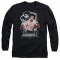 Bruce Lee adult long-sleeved shirt Inner Fury black