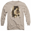 Bruce Lee adult long-sleeved shirt Intensity sand