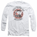 Bruce Lee adult long-sleeved shirt Jeet Kune white