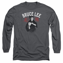 Bruce Lee adult long-sleeved shirt Ready charcoal
