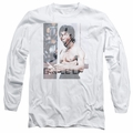 Bruce Lee adult long-sleeved shirt Revving Up white
