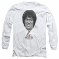 Bruce Lee adult long-sleeved shirt Self Help white