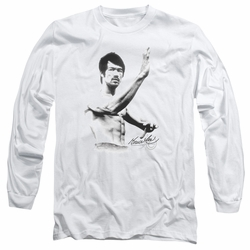 Bruce Lee adult long-sleeved shirt Serenity white