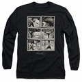 Bruce Lee adult long-sleeved shirt Snap Shots black