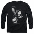 Bruce Lee adult long-sleeved shirt Sounds Of The Dragon black