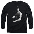 Bruce Lee adult long-sleeved shirt Stance black