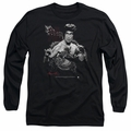 Bruce Lee adult long-sleeved shirt The Dragon black