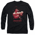 Bruce Lee adult long-sleeved shirt The Shattering Fist black