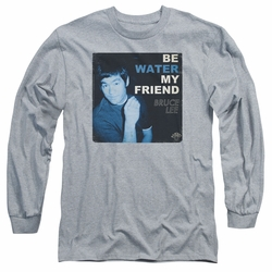Bruce Lee adult long-sleeved shirt Water athletic heather