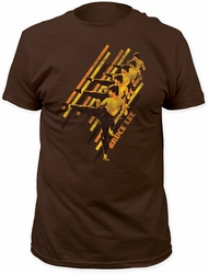 Bruce Lee Diagonal Fitted Jersey t-shirt