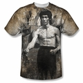 Bruce Lee front sublimation t-shirt Thee Lee short sleeve White
