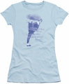 Bruce Lee juniors sheer t-shirt 10,000 Kicks light blue