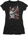 Bruce Lee juniors sheer t-shirt Concentrate black