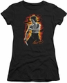 Bruce Lee juniors sheer t-shirt Dragon Fire black