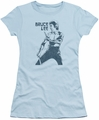 Bruce Lee juniors sheer t-shirt Fighter light blue