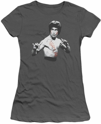 Bruce Lee juniors sheer t-shirt Final Confrontation charcoal