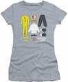 Bruce Lee juniors sheer t-shirt Lee Gift Set athletic heather
