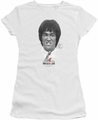 Bruce Lee juniors sheer t-shirt Self Help white