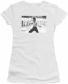Bruce Lee juniors sheer t-shirt Triumphant white