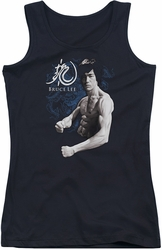 Bruce Lee juniors tank top Dragon Stance black