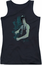 Bruce Lee juniors tank top Feel black