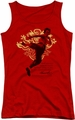 Bruce Lee juniors tank top Immortal Dragon red