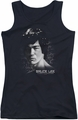 Bruce Lee juniors tank top In Your Face black
