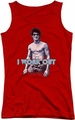 Bruce Lee juniors tank top Lee Works Out red