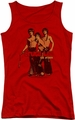 Bruce Lee juniors tank top Nunchucks red