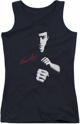 Bruce Lee juniors tank top The Dragon Awaits black