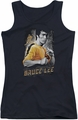 Bruce Lee juniors tank top Yellow Dragon black