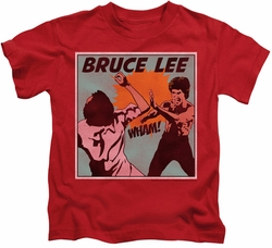 Bruce Lee kids t-shirt Comic Panel red