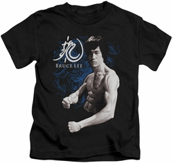 Bruce Lee kids t-shirt Dragon Stance black